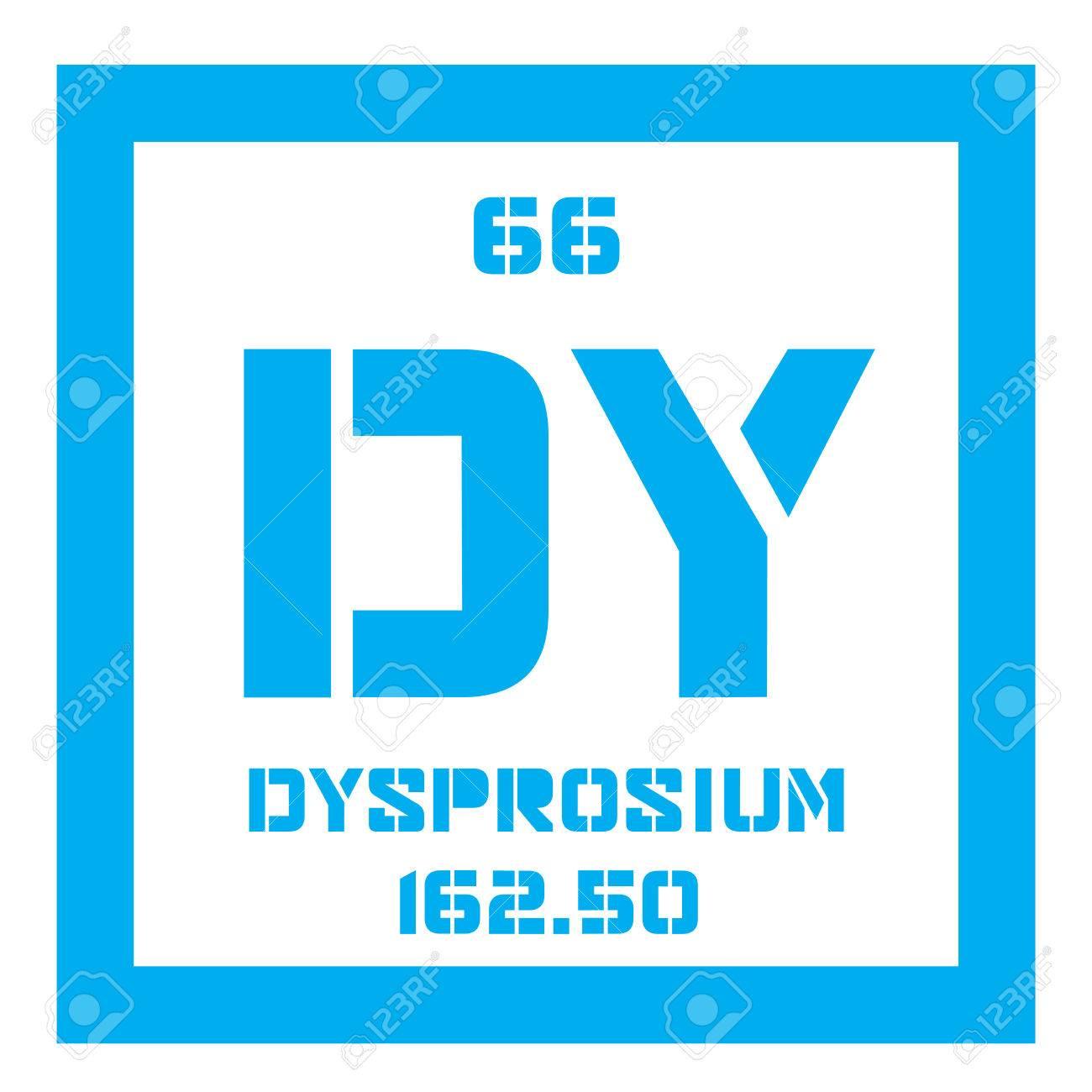 Disprosio elemento qumico elemento de tierras raras icono de disprosio elemento qumico elemento de tierras raras icono de color con el nmero atmico urtaz Choice Image