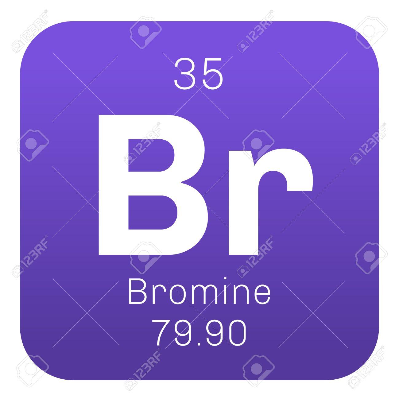 Elemento qumico de bromo corrosivo y txico icono de color con el elemento qumico de bromo corrosivo y txico icono de color con el nmero atmico urtaz Choice Image