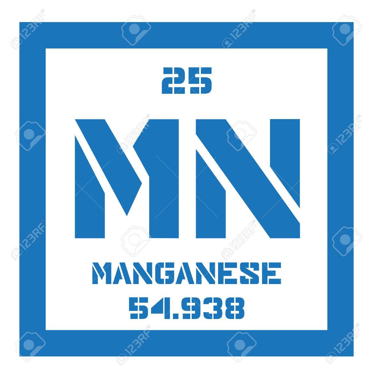 Elemento qumico de manganeso icono de color con el nmero atmico elemento qumico de manganeso icono de color con el nmero atmico y el peso atmico urtaz Image collections