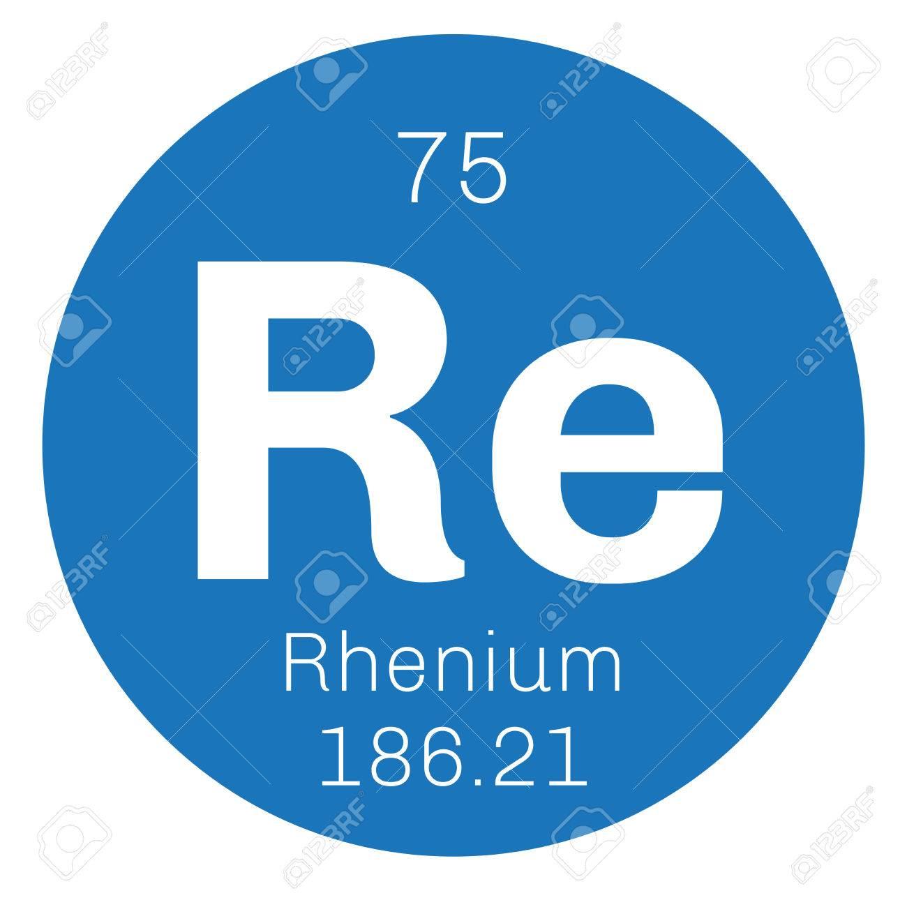 Renio elemento qumico uno de los elementos ms raros de la tierra uno de los elementos ms raros de la tierra icono de color con el nmero atmico y el peso atmico elemento qumico de la tabla peridica urtaz Gallery