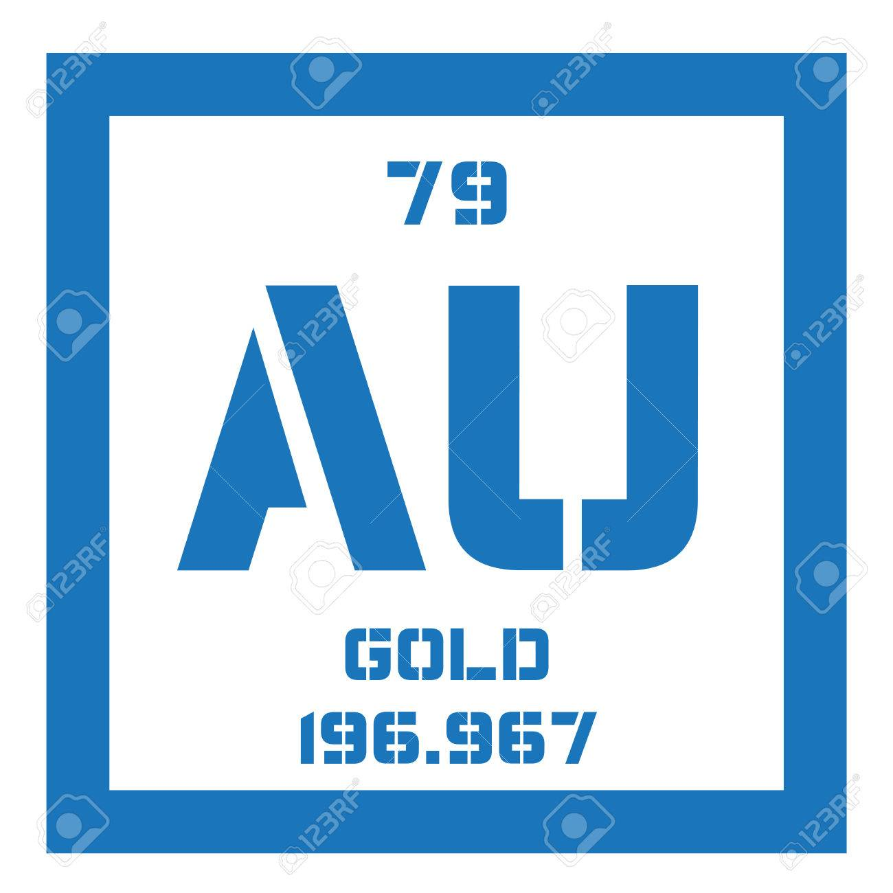 Gold chemical element one of the least reactive chemical elements gold chemical element one of the least reactive chemical elements colored icon with atomic urtaz Gallery