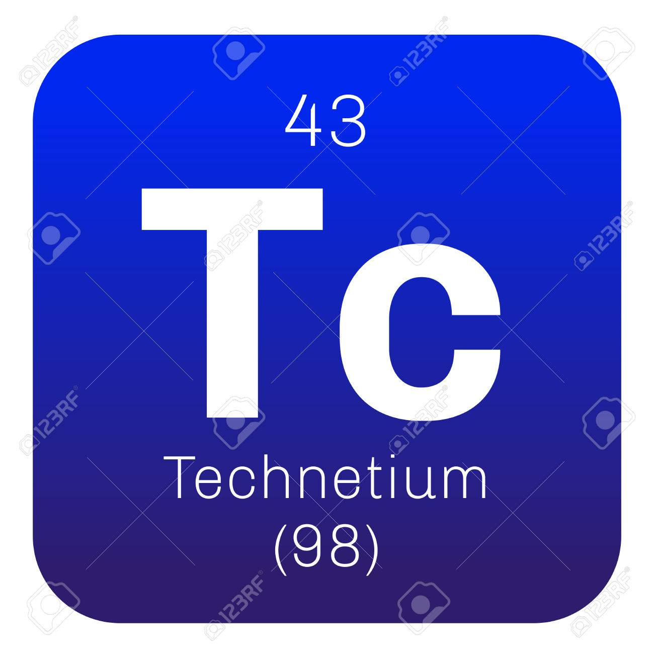 Technetium chemical element lightest radioactive element colored technetium chemical element lightest radioactive element colored icon with atomic number and atomic weight urtaz Images