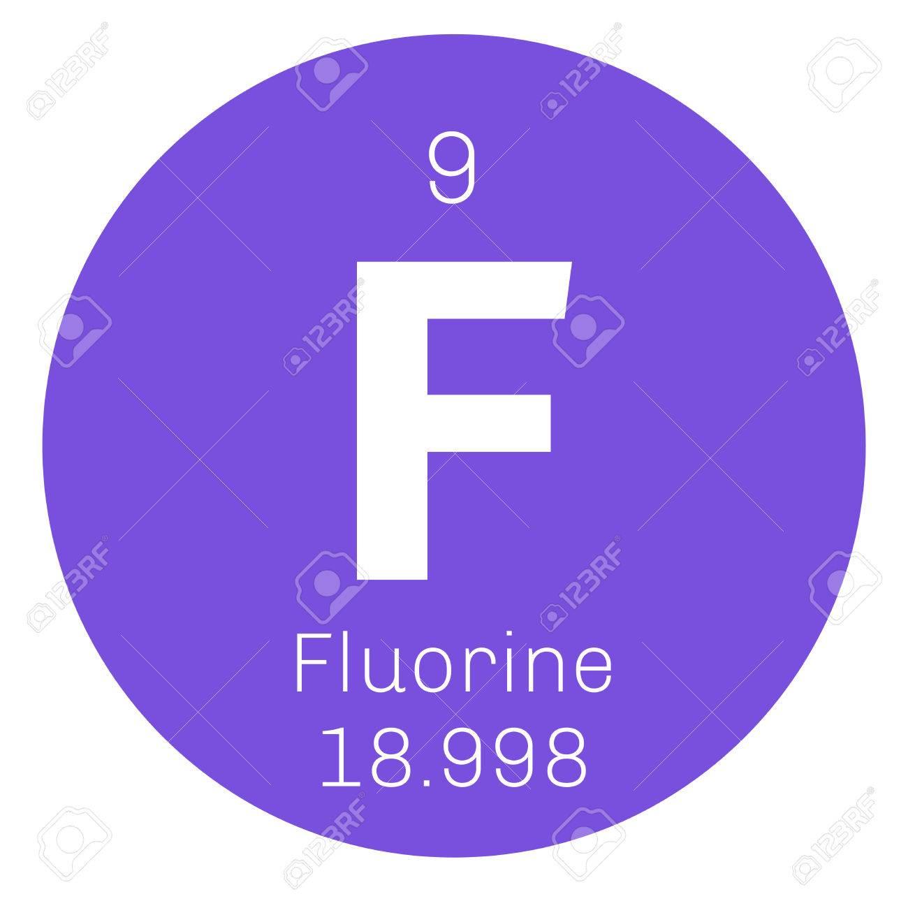 El flor elemento qumico el elemento ms electronegativo icono de el flor elemento qumico el elemento ms electronegativo icono de color con el nmero urtaz Choice Image