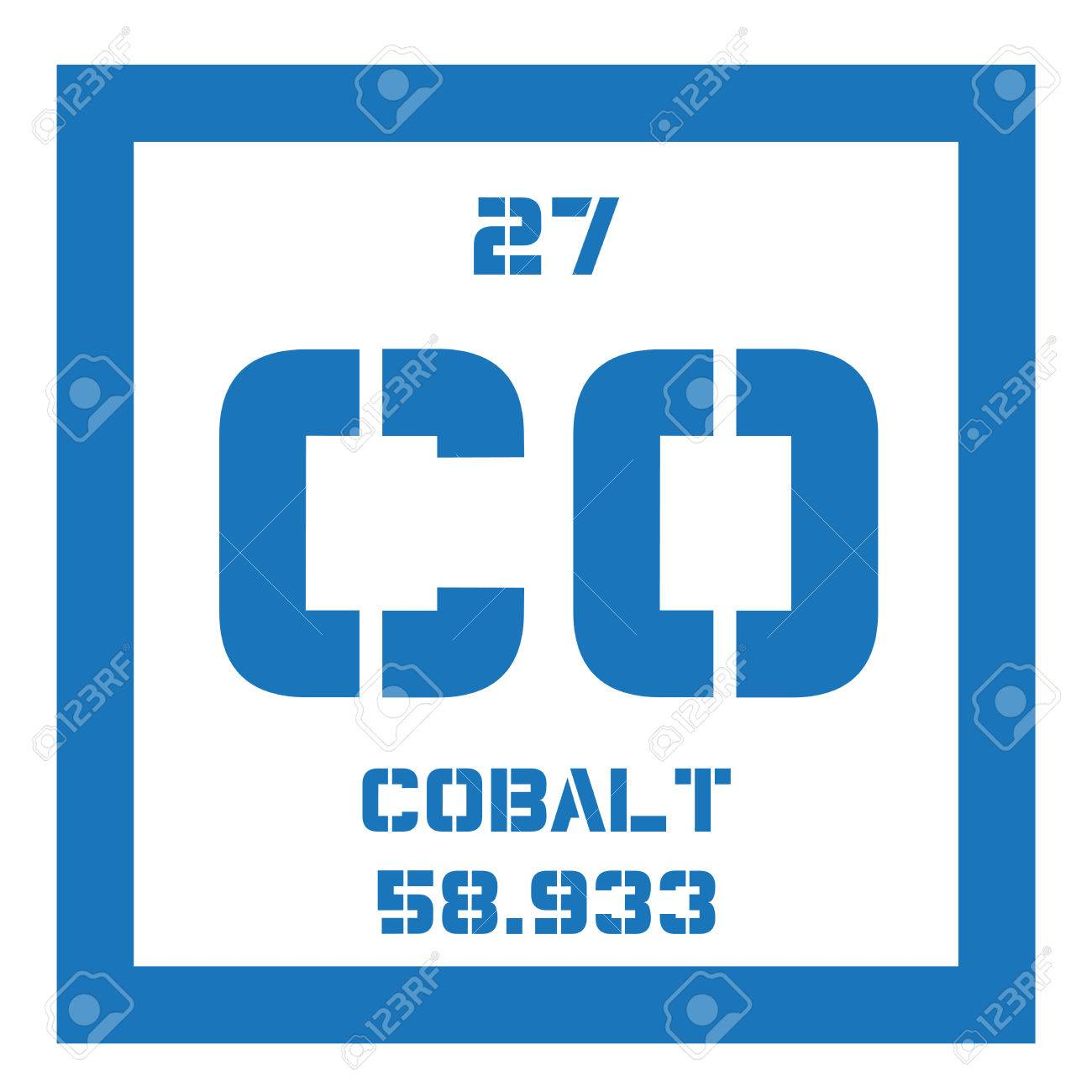 Cobalt chemical element colored icon with atomic number and cobalt chemical element colored icon with atomic number and atomic weight chemical element of urtaz Gallery