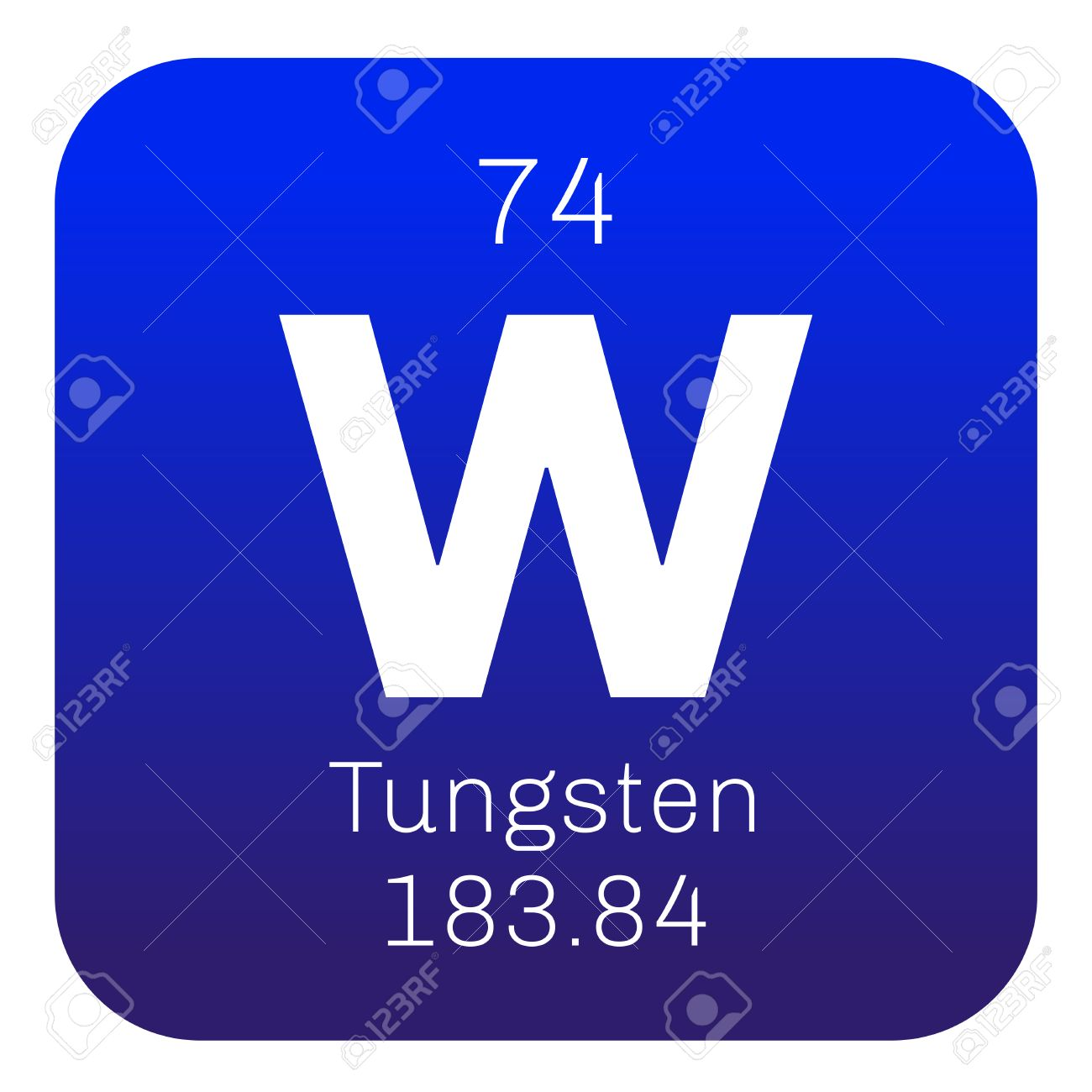 Tungsten chemical element also known as wolfram colored icon tungsten chemical element also known as wolfram colored icon with atomic number and atomic urtaz Choice Image