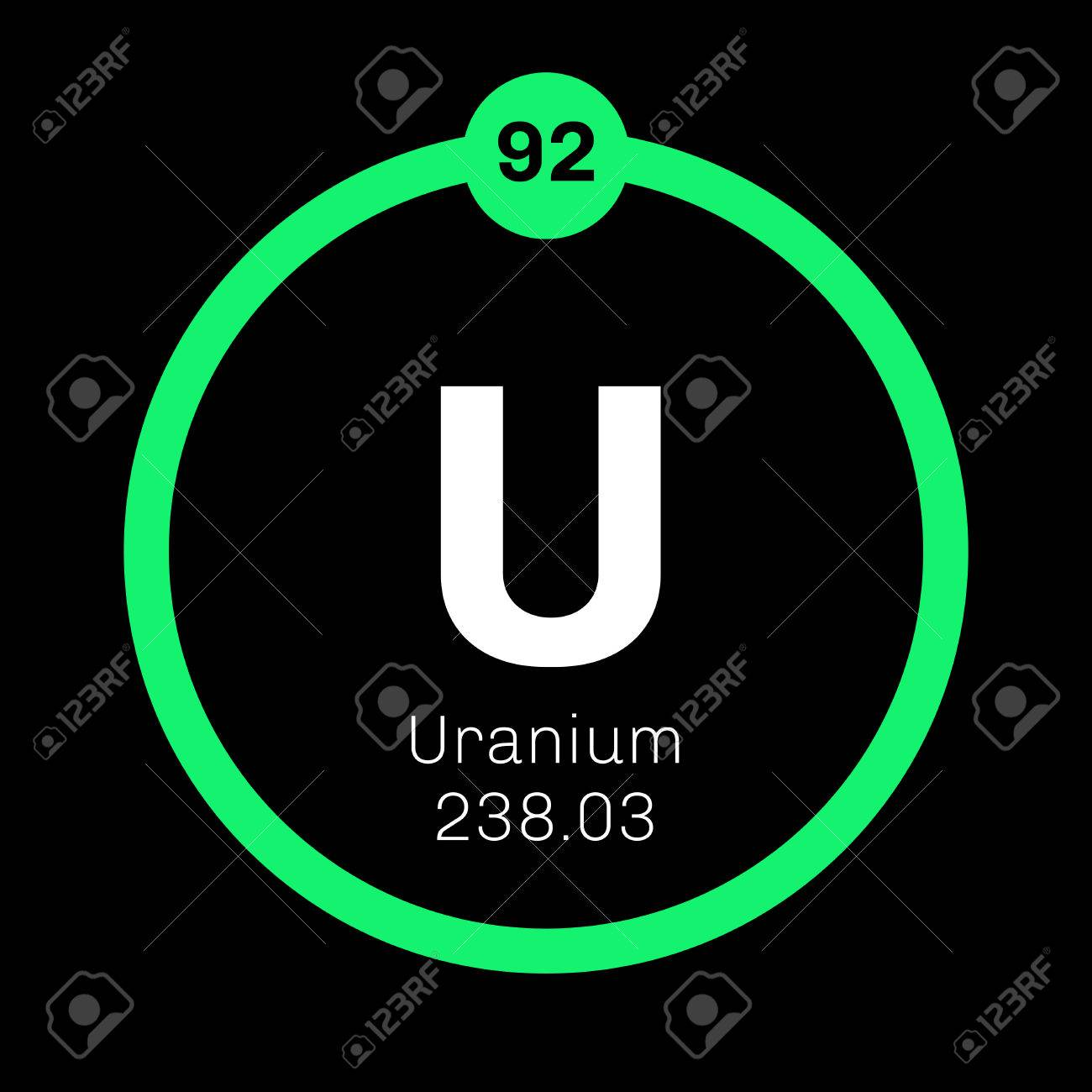 Uranium chemical element uranium is weakly radioactive metal uranium chemical element uranium is weakly radioactive metal colored icon with atomic number and urtaz