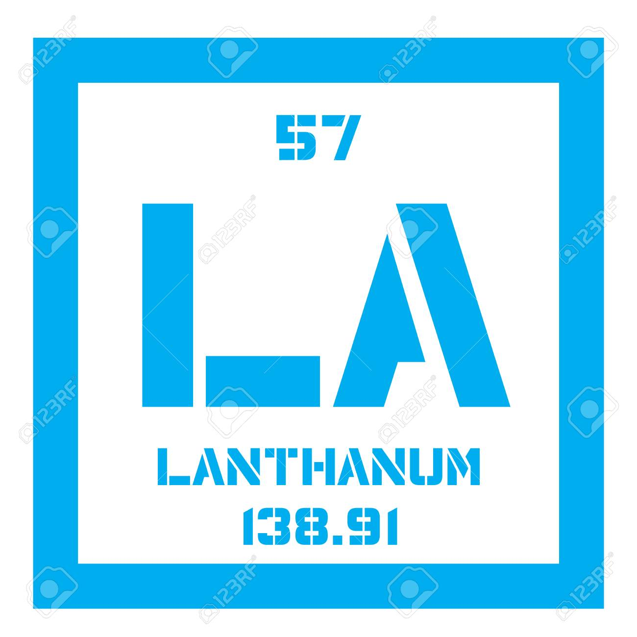 lanthanum chemical element soft metallic chemical element colored icon with atomic number and atomic - Lanthanum Periodic Table Atomic Mass