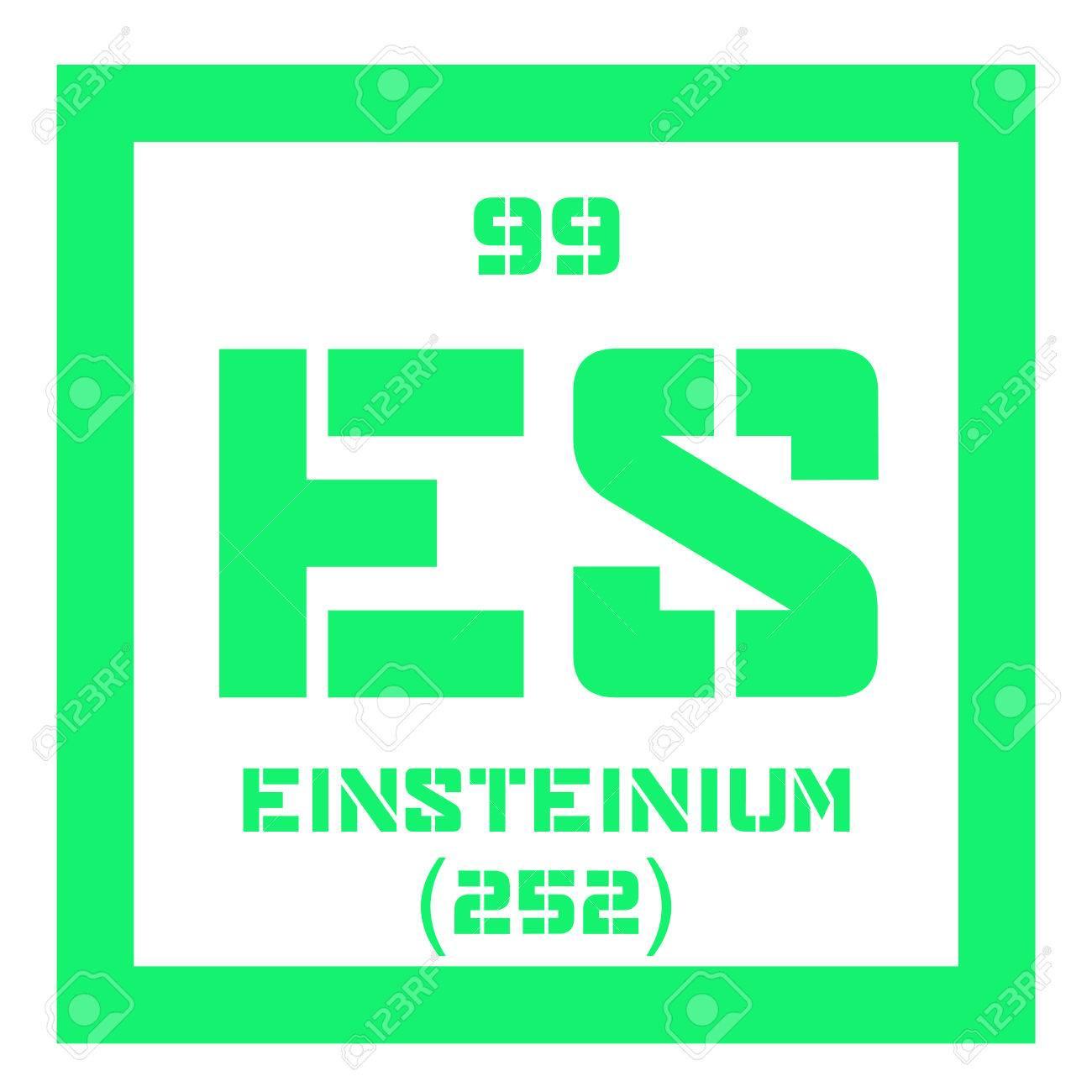 Einstenio elemento qumico elemento sinttico icono de color con einstenio elemento qumico elemento sinttico icono de color con el nmero atmico y el urtaz Images