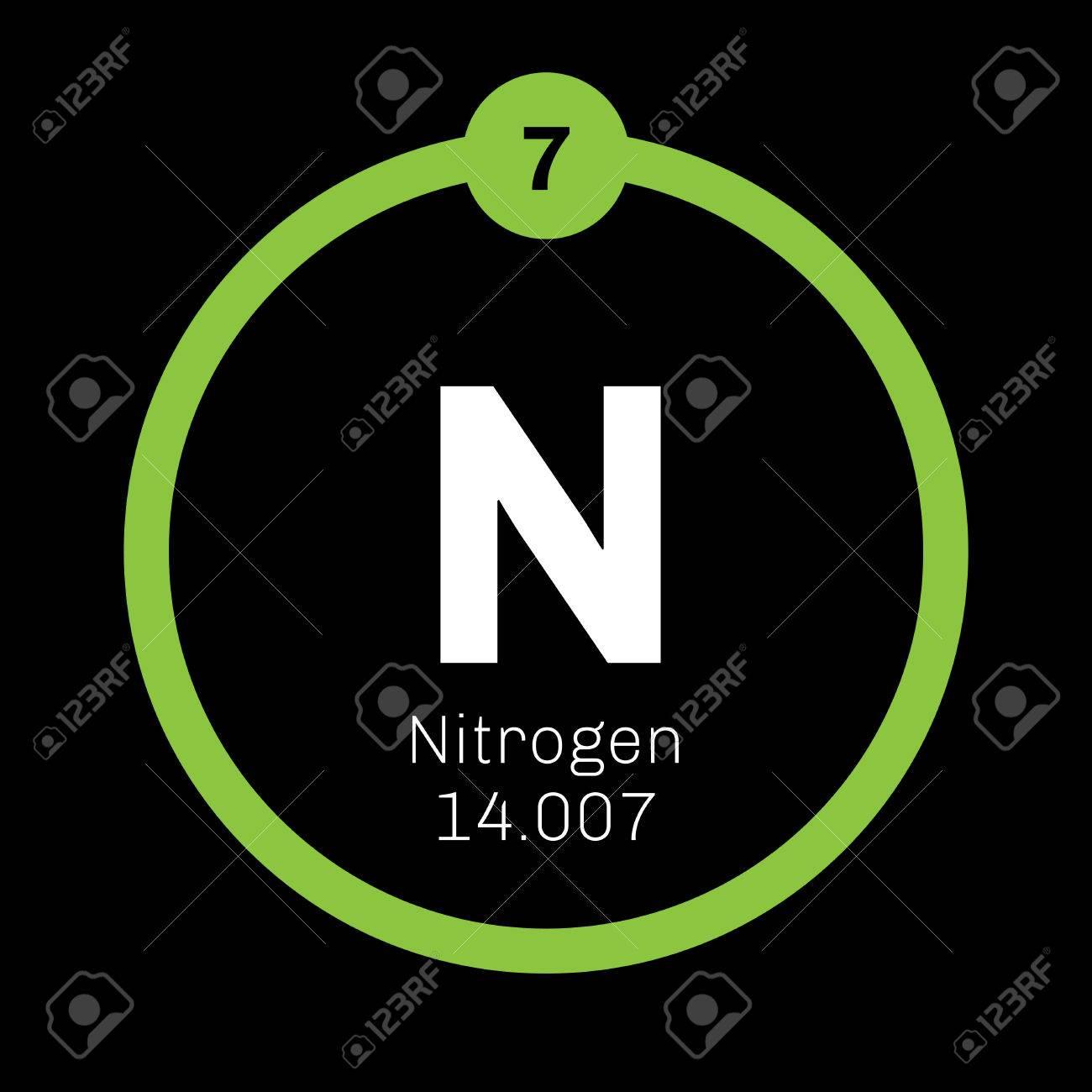 El nitrgeno elemento qumico elemento comn en el universo icono el nitrgeno elemento qumico elemento comn en el universo icono de color con el urtaz Choice Image
