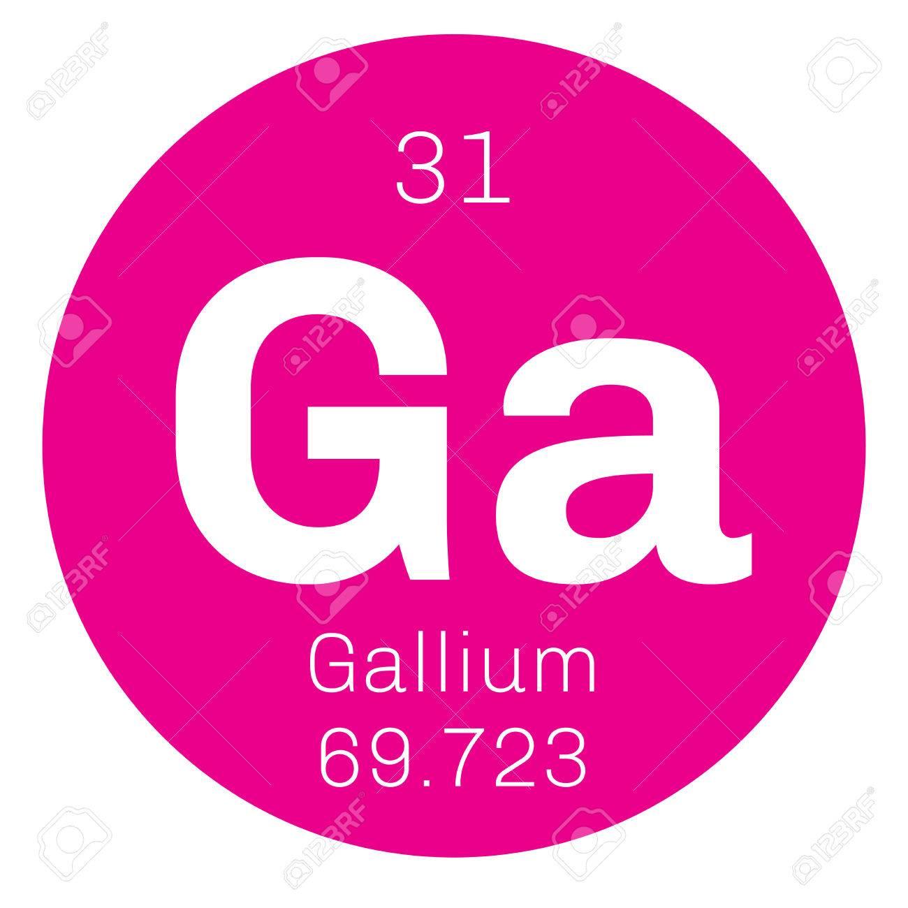 el galio elemento qumico utilizado en la electrnica icono de color con el nmero - Tabla Periodica De Los Elementos Galio