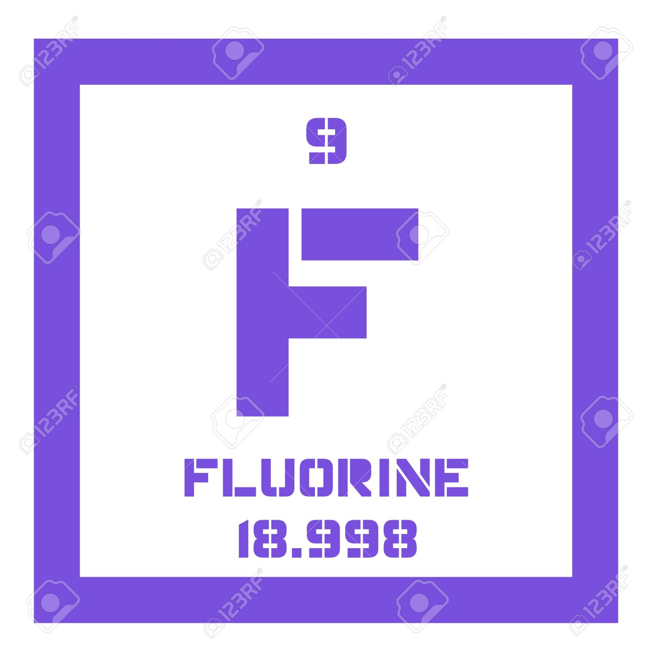 Fluorine chemical element the most electronegative element fluorine chemical element the most electronegative element colored icon with atomic number and atomic gamestrikefo Gallery
