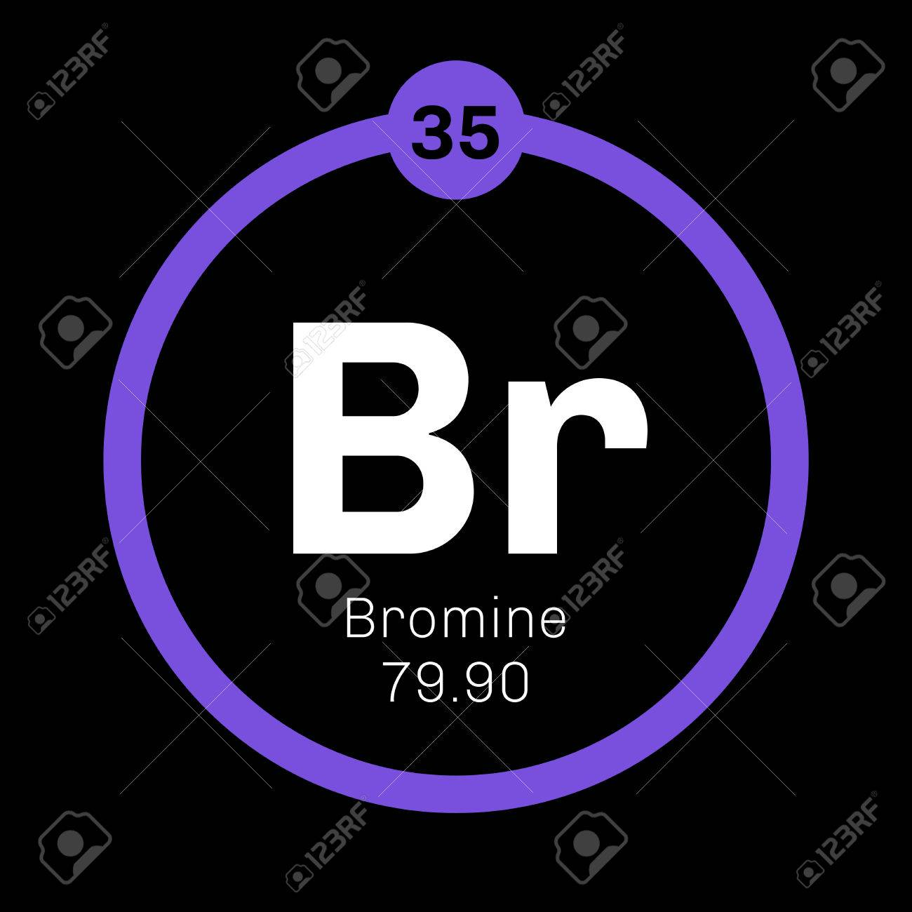 Bromine chemical element corrosive and toxic colored icon with bromine chemical element corrosive and toxic colored icon with atomic number and atomic weight biocorpaavc Image collections