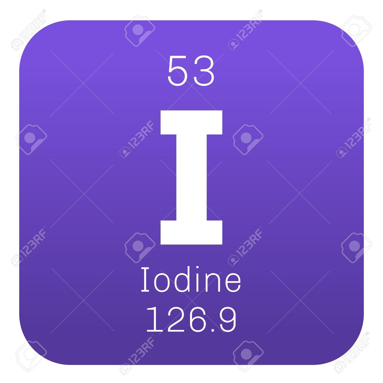 Elemento qumico yodo icono de color con el nmero atmico y el elemento qumico yodo icono de color con el nmero atmico y el peso atmico urtaz Image collections