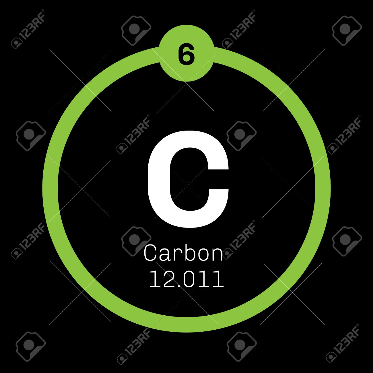 chemical element of periodic table carbon chemical element graphite and diamond colored icon with atomic number and atomic weight - Periodic Table Diamond Symbol