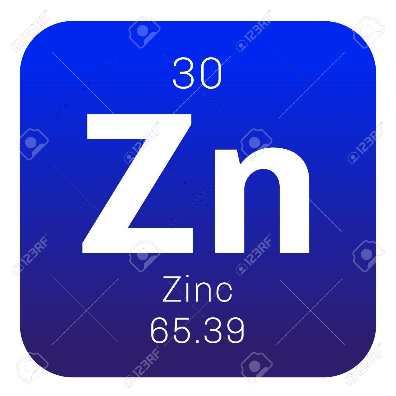 El zinc elemento qumico elemento comn en la tierra icono de el zinc elemento qumico elemento comn en la tierra icono de color con el urtaz Image collections