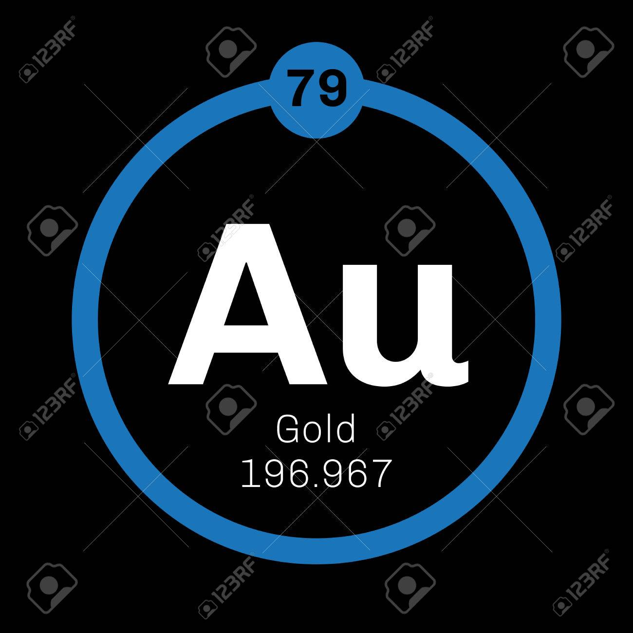Gold chemical element one of the least reactive chemical elements gold chemical element one of the least reactive chemical elements colored icon with atomic urtaz Image collections