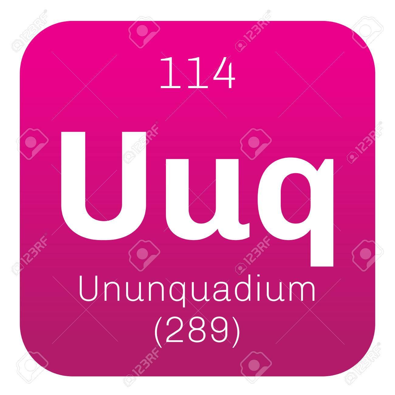 Ununquadium chemical element science symbol chemistry colored ununquadium chemical element science symbol chemistry colored icon with atomic number and atomic weight urtaz Image collections