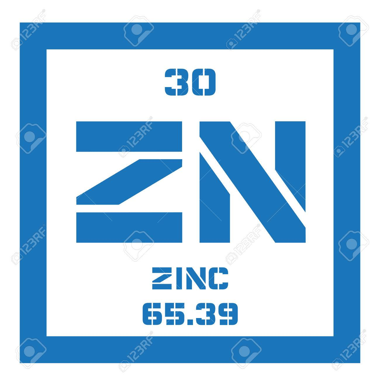 Zinc chemical element common element on earth colored icon vector zinc chemical element common element on earth colored icon with atomic number and atomic weight chemical element of periodic table urtaz Gallery