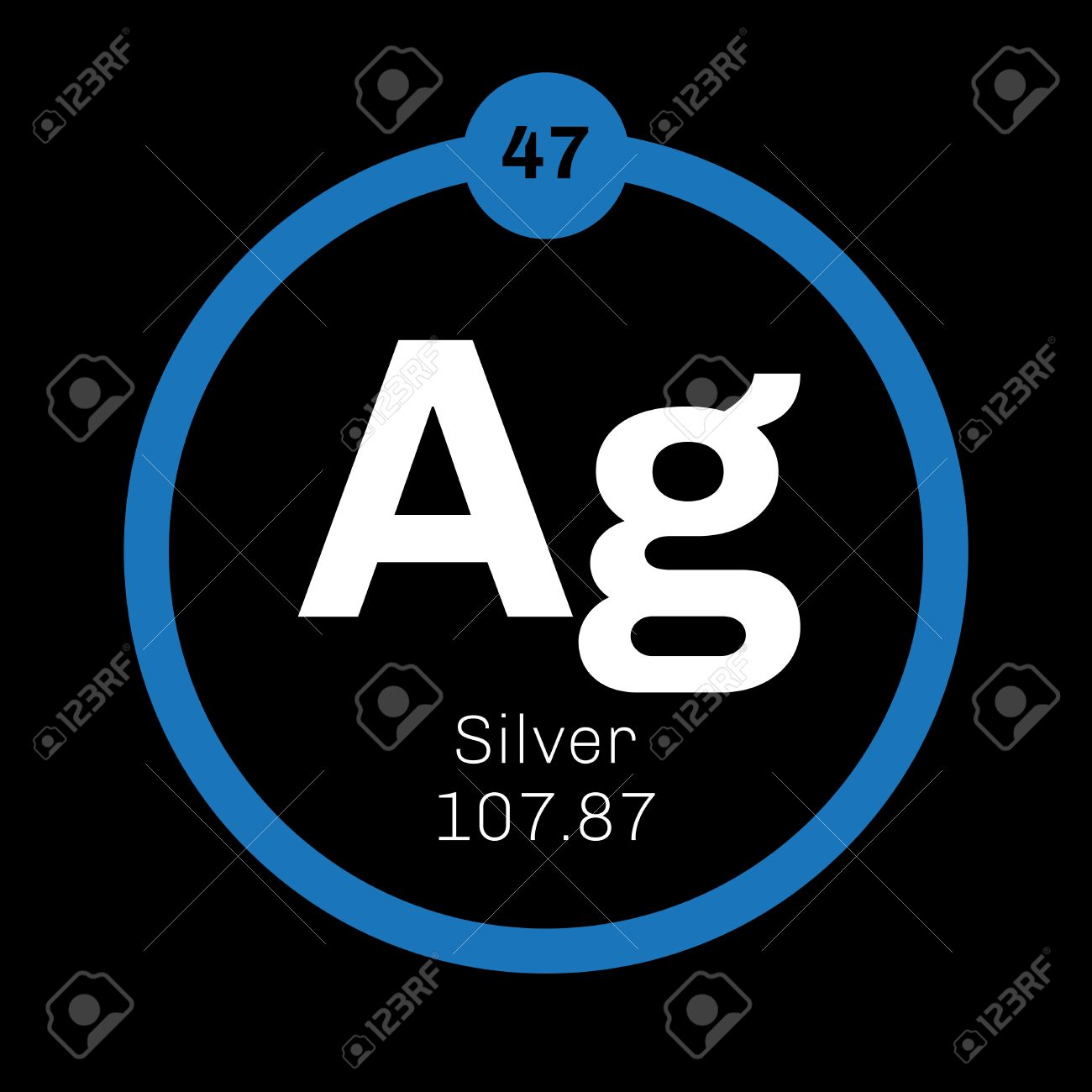 Silver chemical element precious metal colored icon with atomic silver chemical element precious metal colored icon with atomic number and atomic weight urtaz Image collections