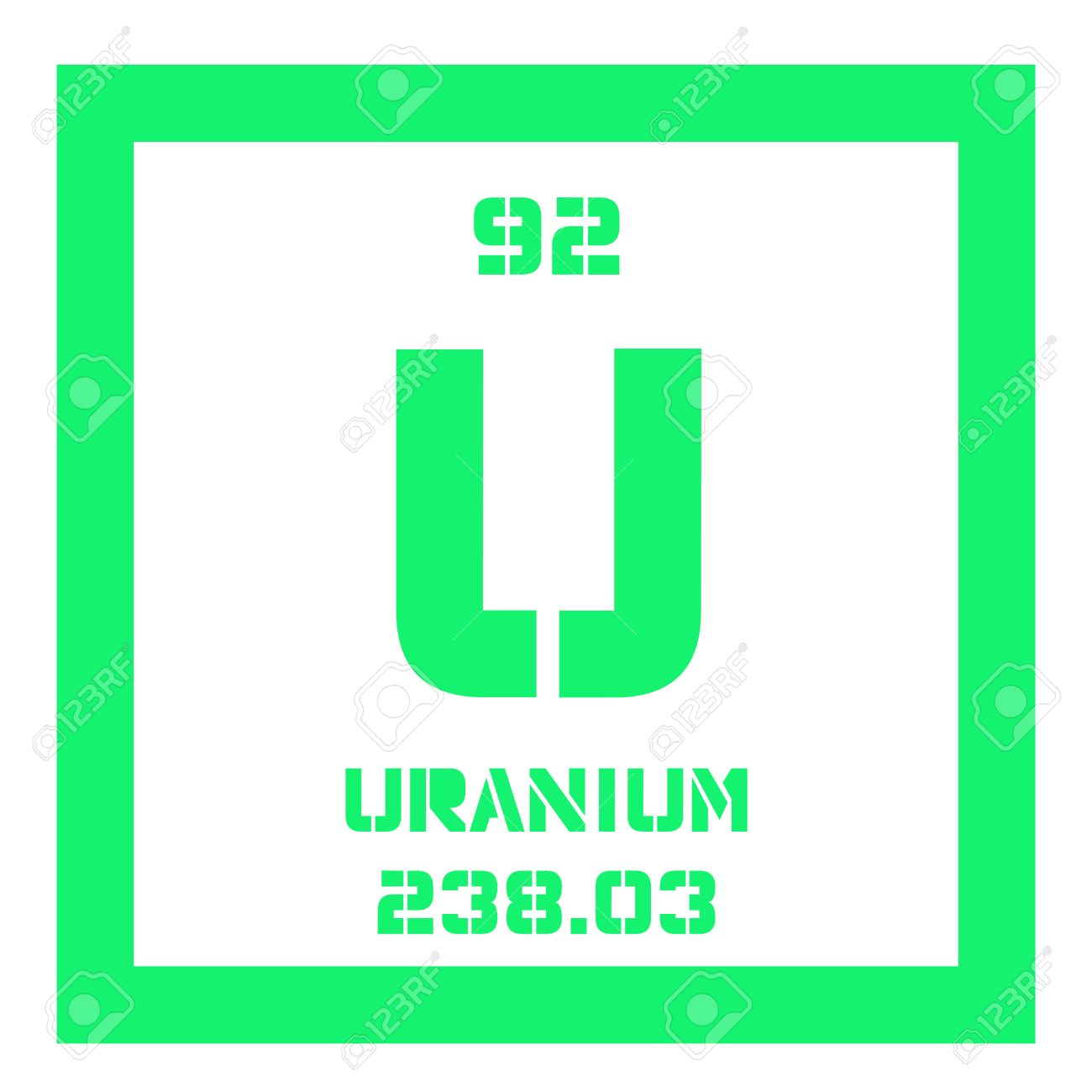 Uranium chemical element uranium is weakly radioactive metal chemical element of periodic table uranium chemical element uranium is weakly radioactive metal colored icon with atomic number and urtaz Choice Image