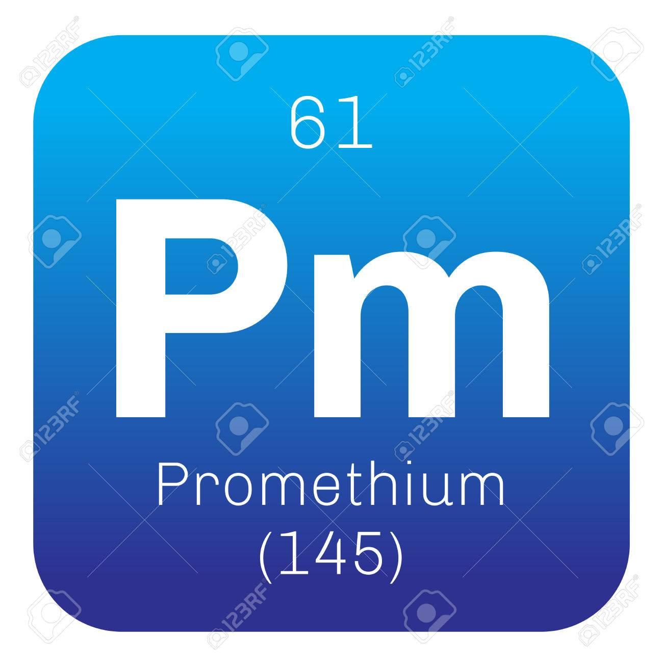 Prometio elemento qumico elemento radiactivo icono de color con foto de archivo prometio elemento qumico elemento radiactivo icono de color con el nmero atmico y el peso atmico elemento qumico de la tabla urtaz Gallery