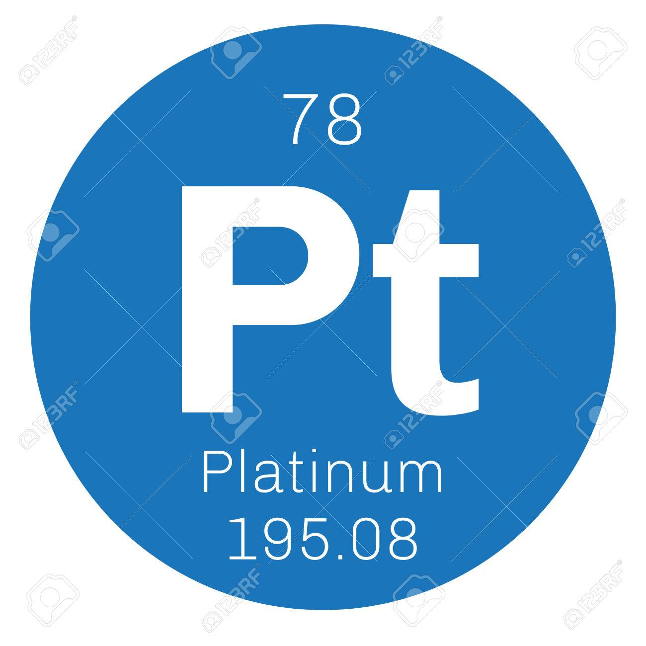 Platinum elemento qumico metal precioso icono de color con el foto de archivo platinum elemento qumico metal precioso icono de color con el nmero atmico y el peso atmico elemento qumico de la tabla peridica urtaz Gallery
