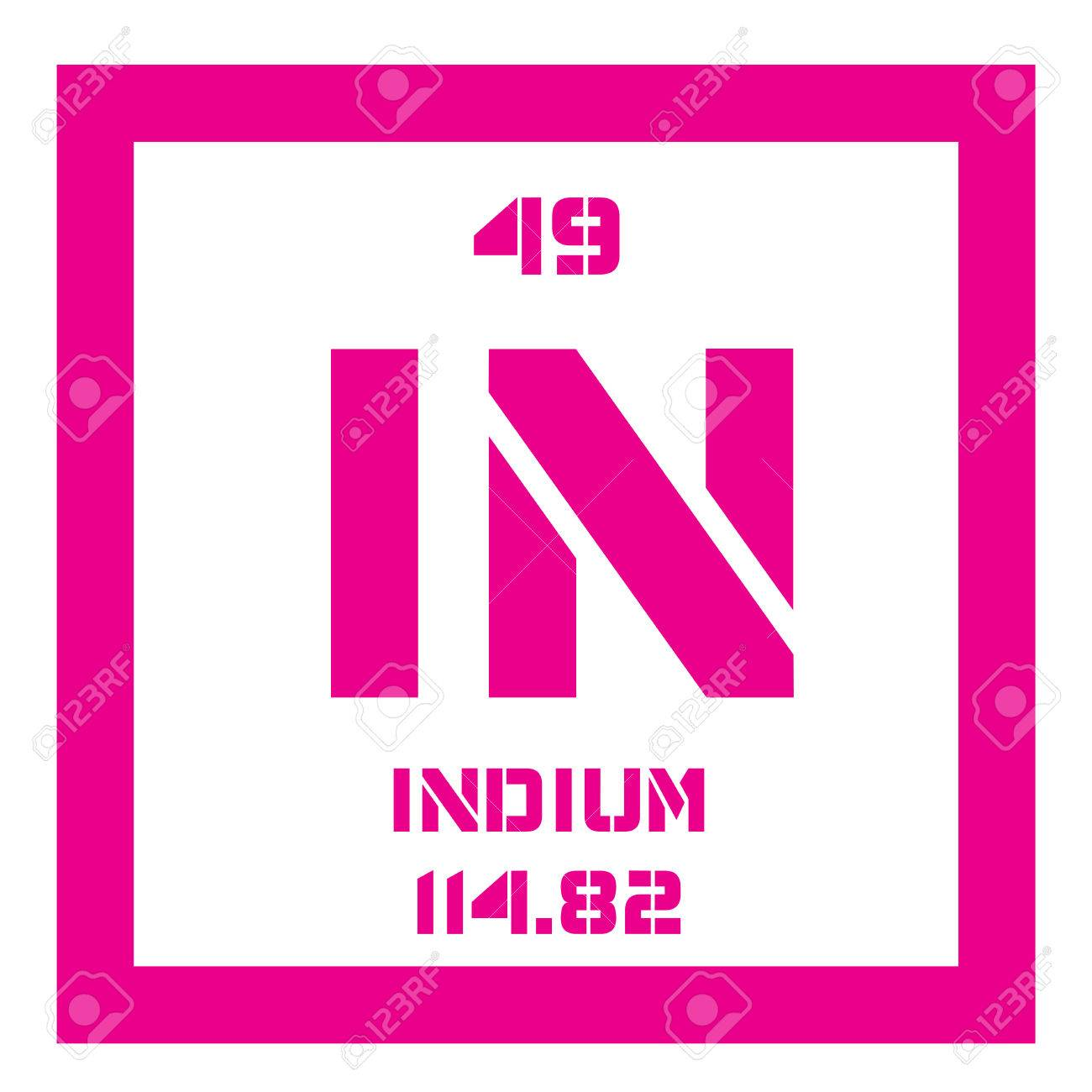 Indium chemical element soft post transition metal colored indium chemical element soft post transition metal colored icon with atomic number and biocorpaavc Images