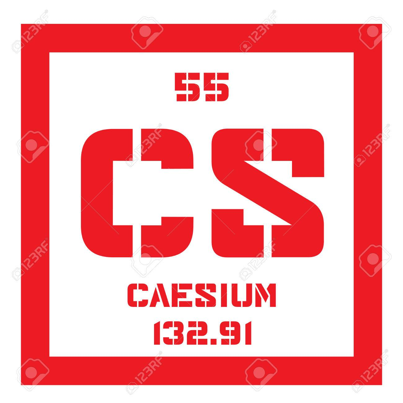 Caesium chemical element soft alkali metal colored icon with caesium chemical element soft alkali metal colored icon with atomic number and atomic weight urtaz Gallery