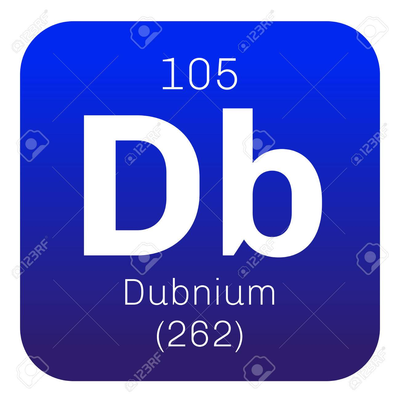 Dubnium chemical element radioactive synthetic element colored dubnium chemical element radioactive synthetic element colored icon with atomic number and atomic weight urtaz