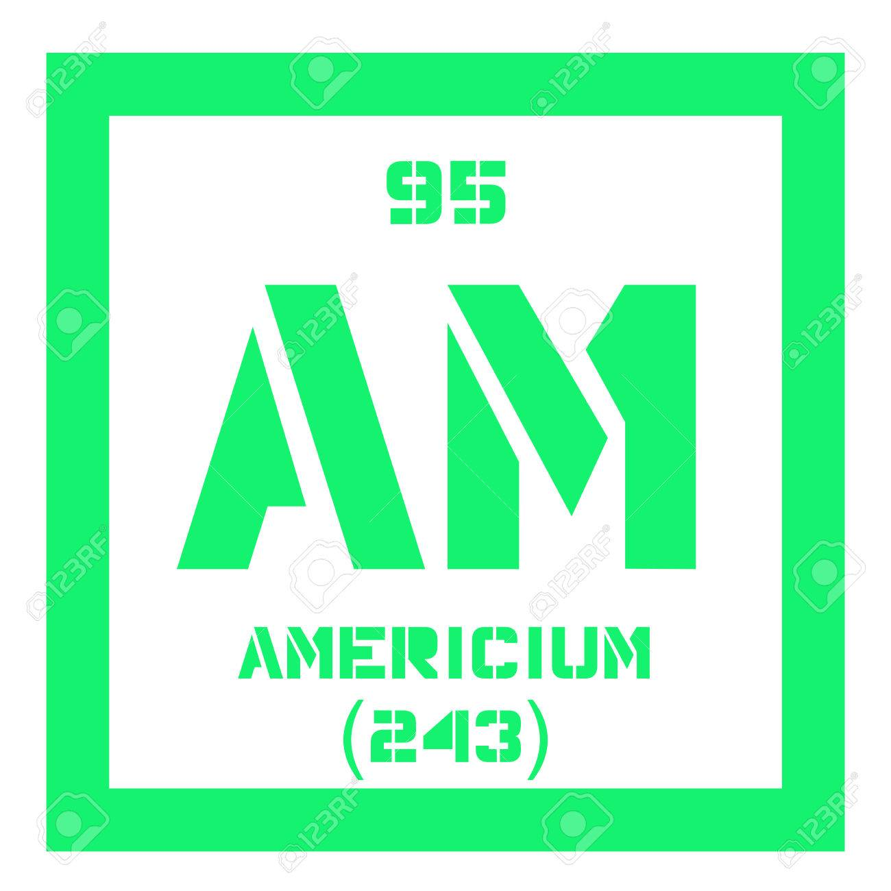 Americium chemical element radioactive transuranic chemical americium chemical element radioactive transuranic chemical element colored icon with atomic number and atomic urtaz Image collections