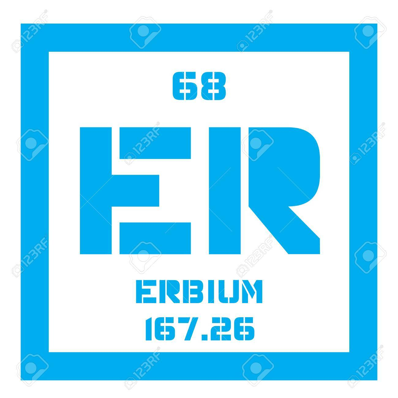 Erbium chemical element rare earth element colored icon with chemical element of periodic table erbium chemical element rare earth element colored icon with atomic number and atomic weight urtaz Image collections