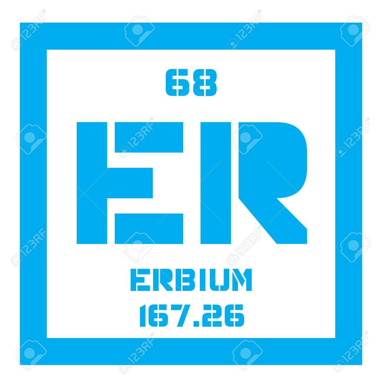 Erbium chemical element rare earth element colored icon with erbium chemical element rare earth element colored icon with atomic number and atomic weight urtaz Images