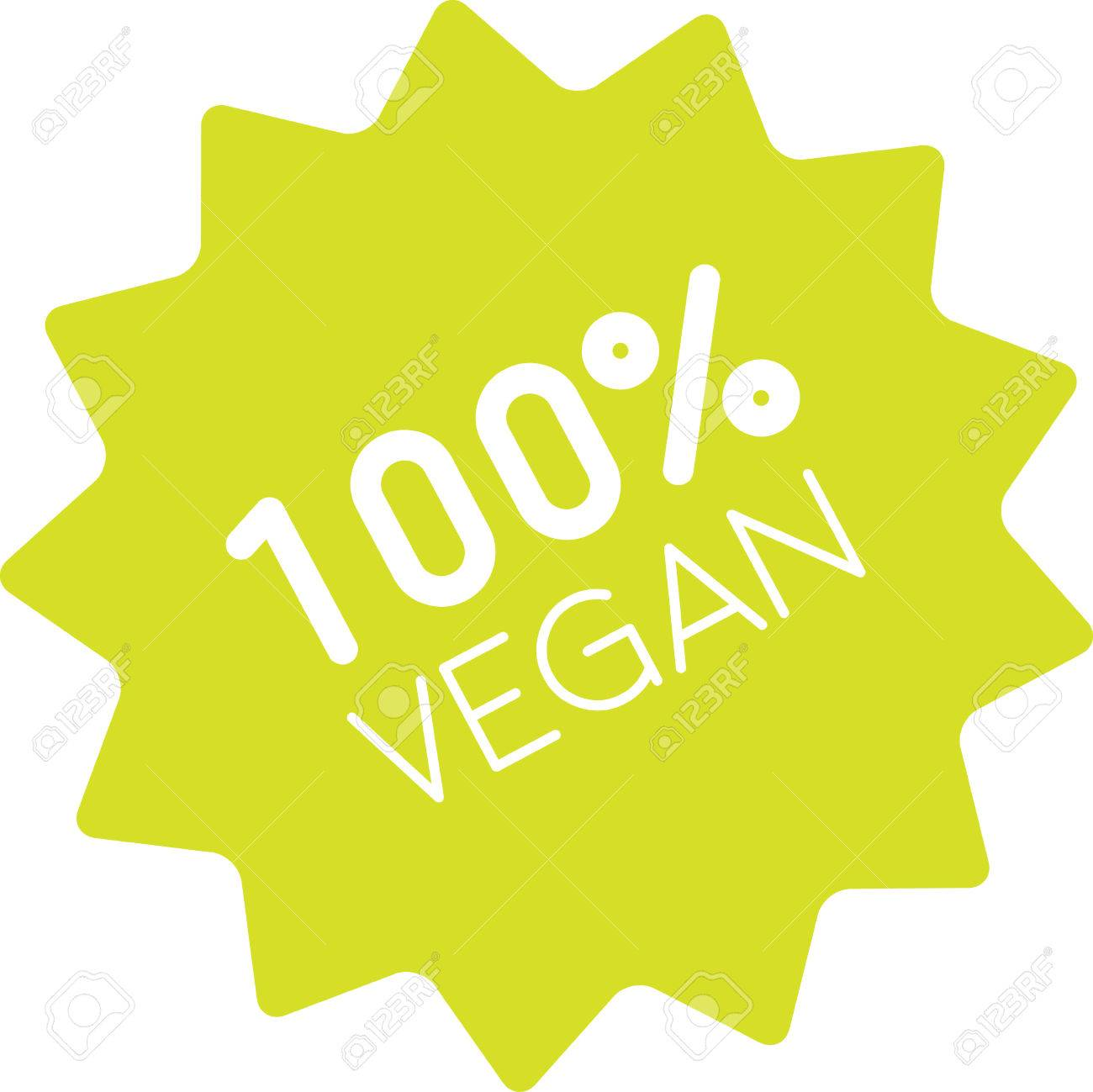 One Hundred Percent Vegan Label Clean Green Sign Of Pure Vegetarian Royalty Free Cliparts Vectors And Stock Illustration Image 62997934