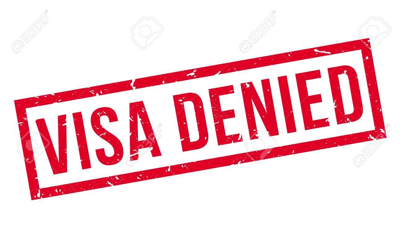 Visa Refus Tampon En Caoutchouc Sur Blanc Imprimer Impressionner Overprint Banque D