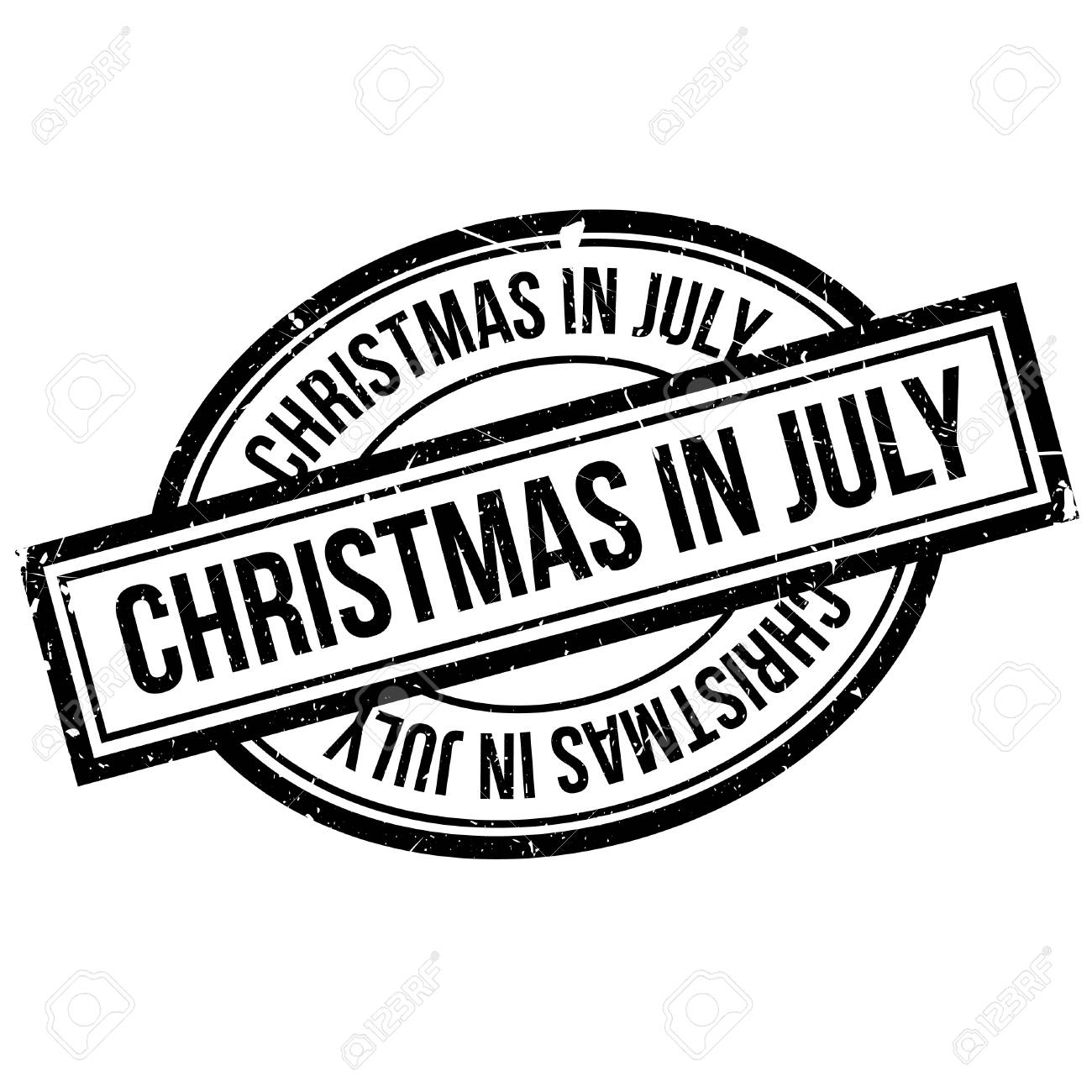 Christmas In July Clipart Black And White.Christmas In July Rubber Stamp Grunge Design With Dust Scratches