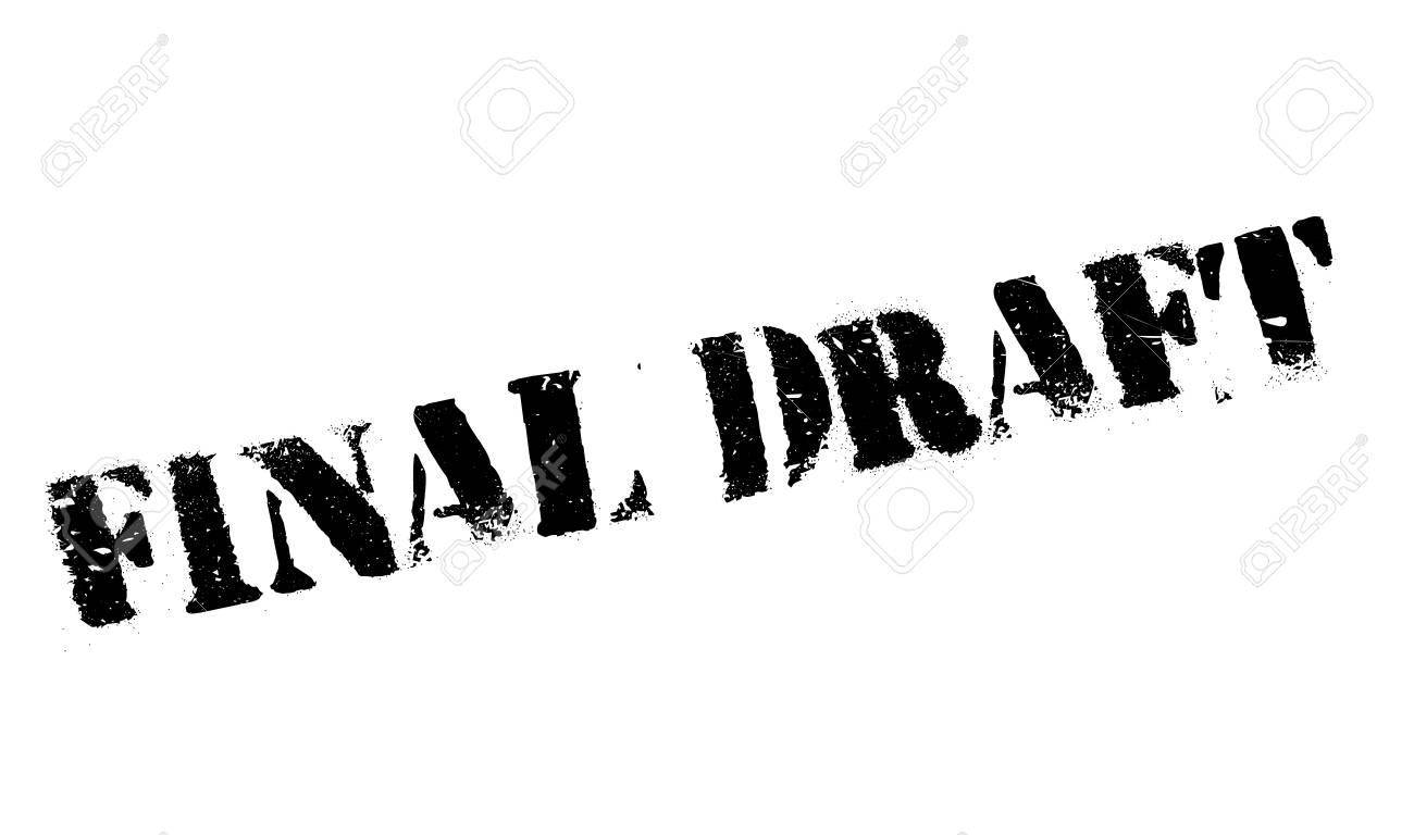 Final Draft rubber stamp. Grunge design with dust scratches. Effects can be easily removed for a clean, crisp look. Color is easily changed. Stock Photo - 67905159