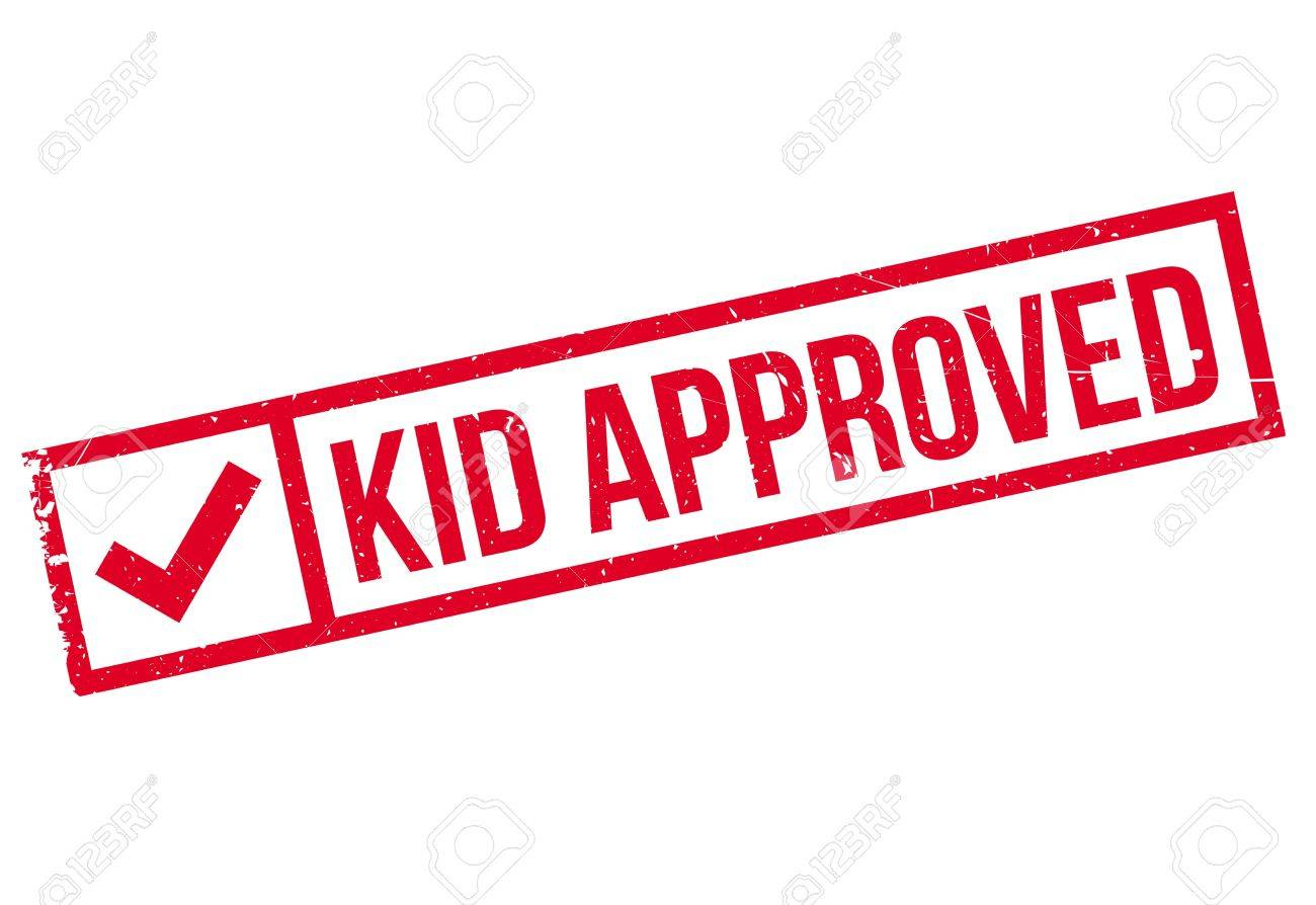Kid Approved Rubber Stamp Grunge Design With Dust Scratches Effects Can Be Easily Removed
