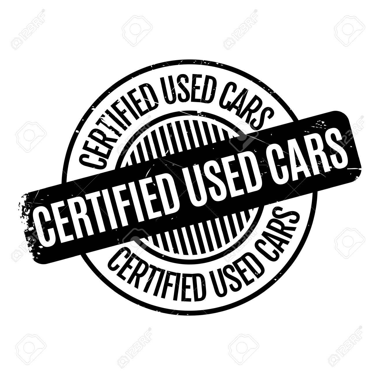 Certified Used Cars >> Certified Used Cars Rubber Stamp Grunge Design With Dust Scratches