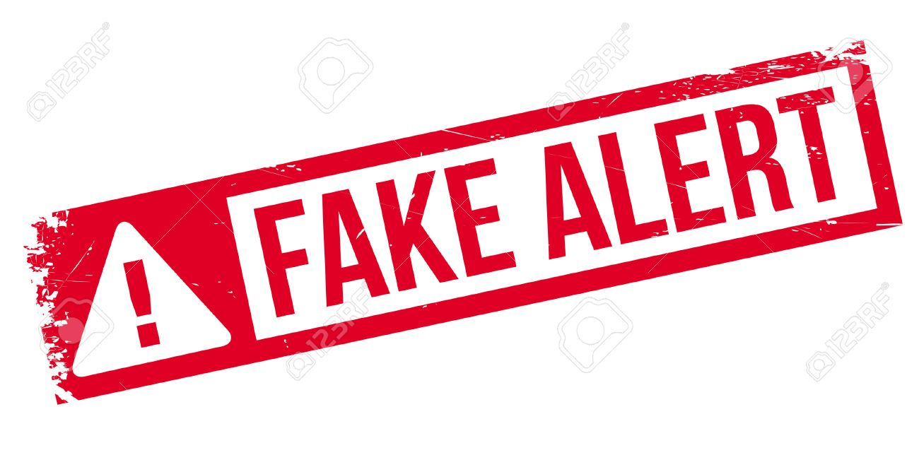 Fake Alert rubber stamp. Grunge design with dust scratches. Effects can be easily removed for a clean, crisp look. Color is easily changed. - 68452953