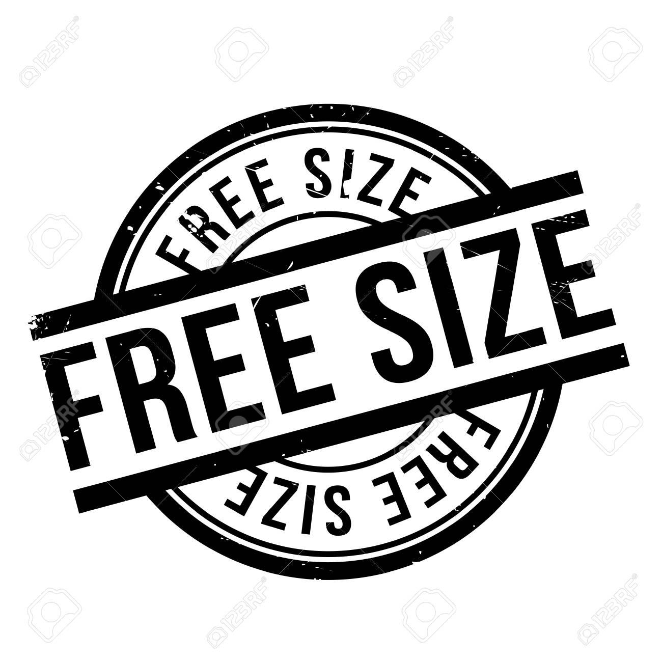 Free Size Stempel. Grunge-Design Mit Staub Kratzer. Die Effekte ...