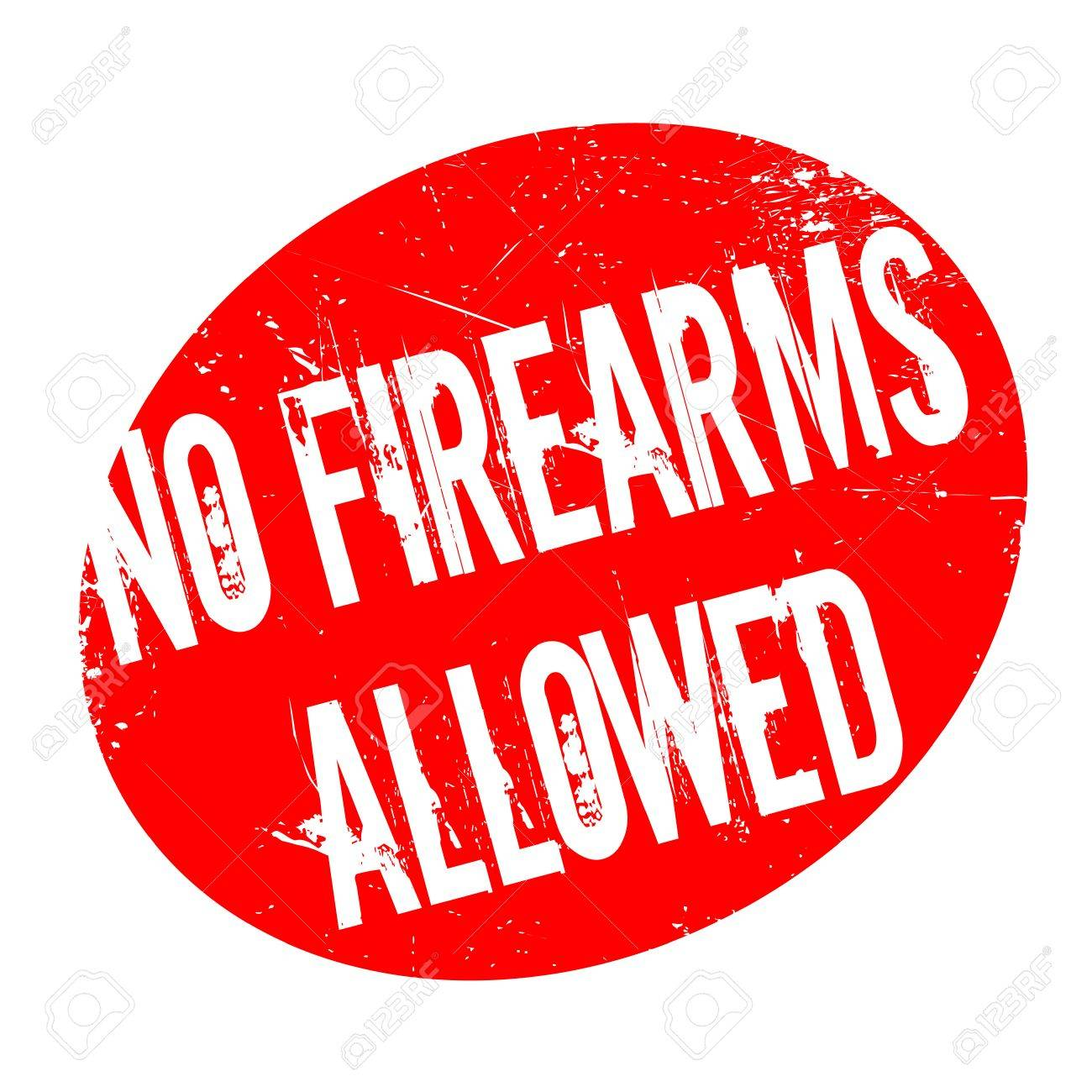 No Firearms Allowed rubber stamp. Grunge design with dust scratches. Effects can be easily removed for a clean, crisp look. Color is easily changed. - 70683981