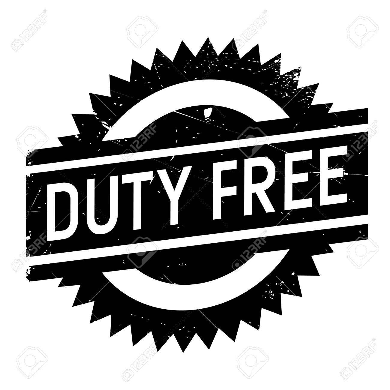 Duty-free-Stempel. Grunge-Design Mit Staub Kratzer. Die Effekte ...