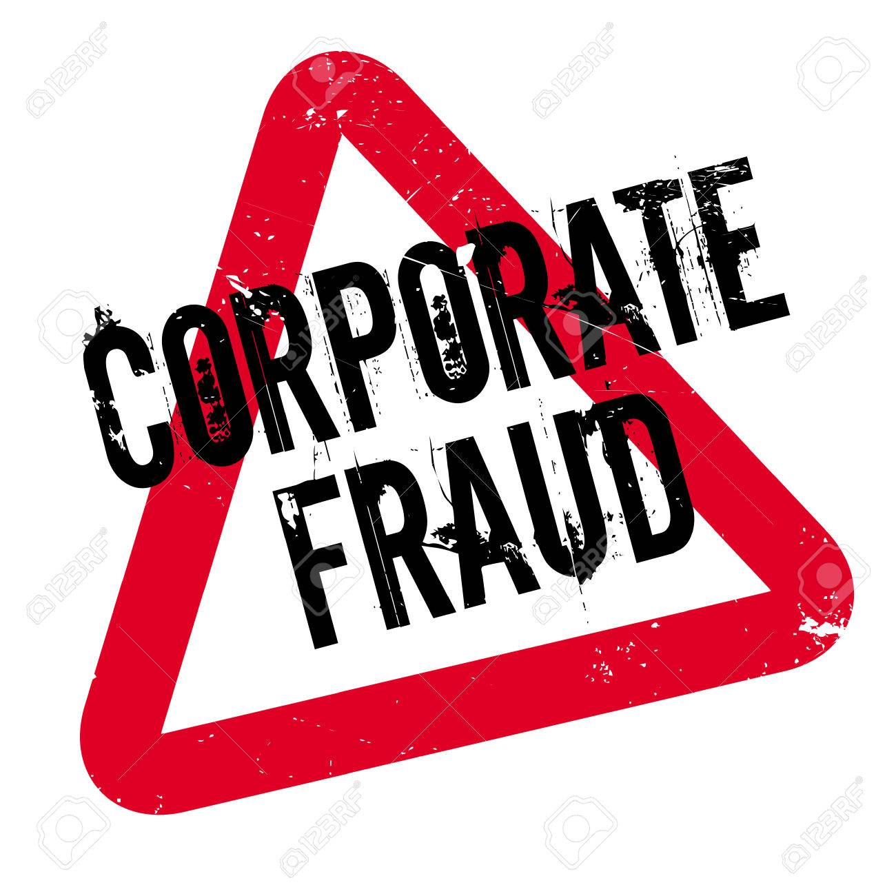 Corporate Fraud Rubber Stamp Grunge Design With Dust Scratches Effects Can Be Easily Removed