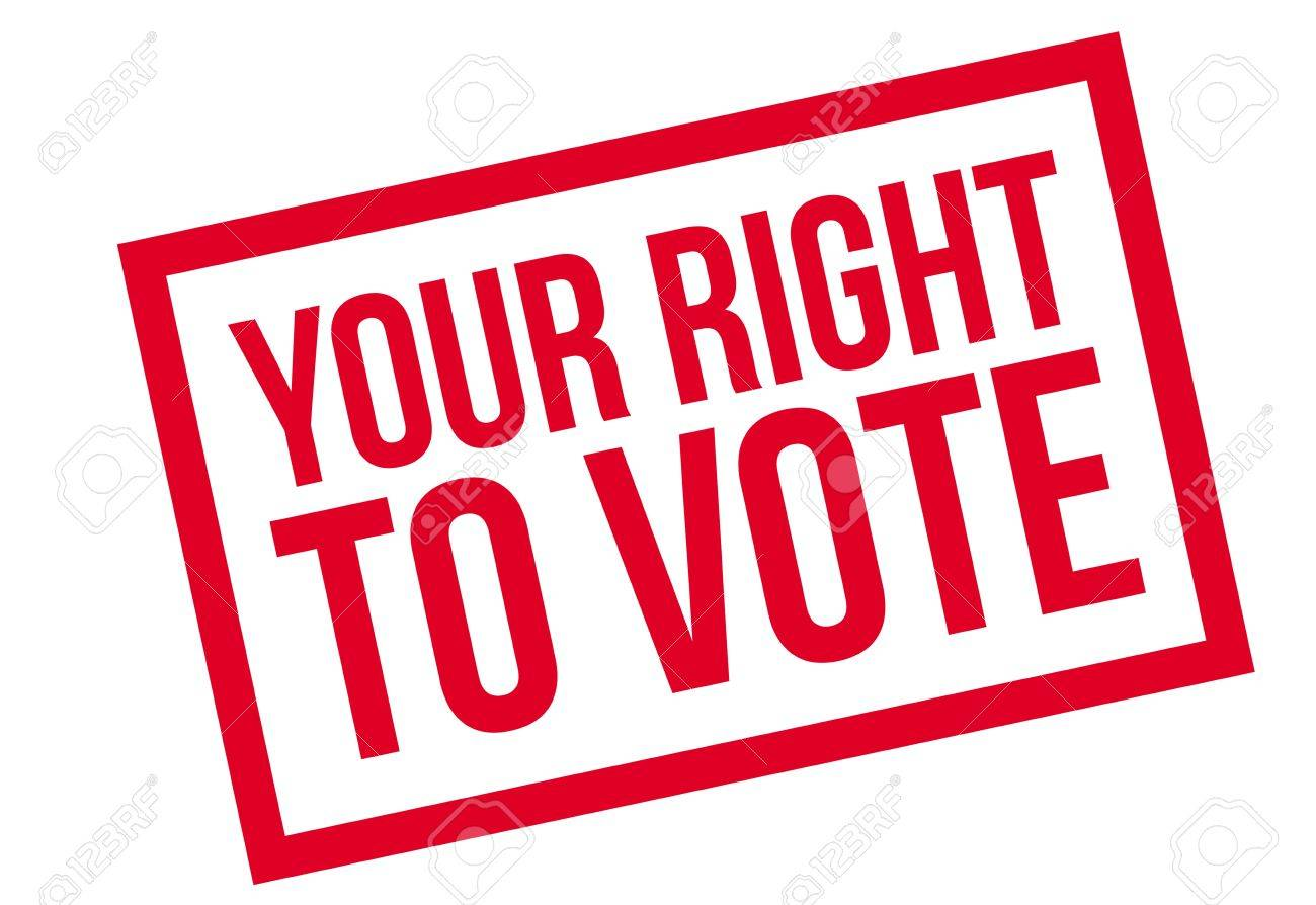 Your Right To Vote Rubber Stamp Grunge Design With Dust Scratches
