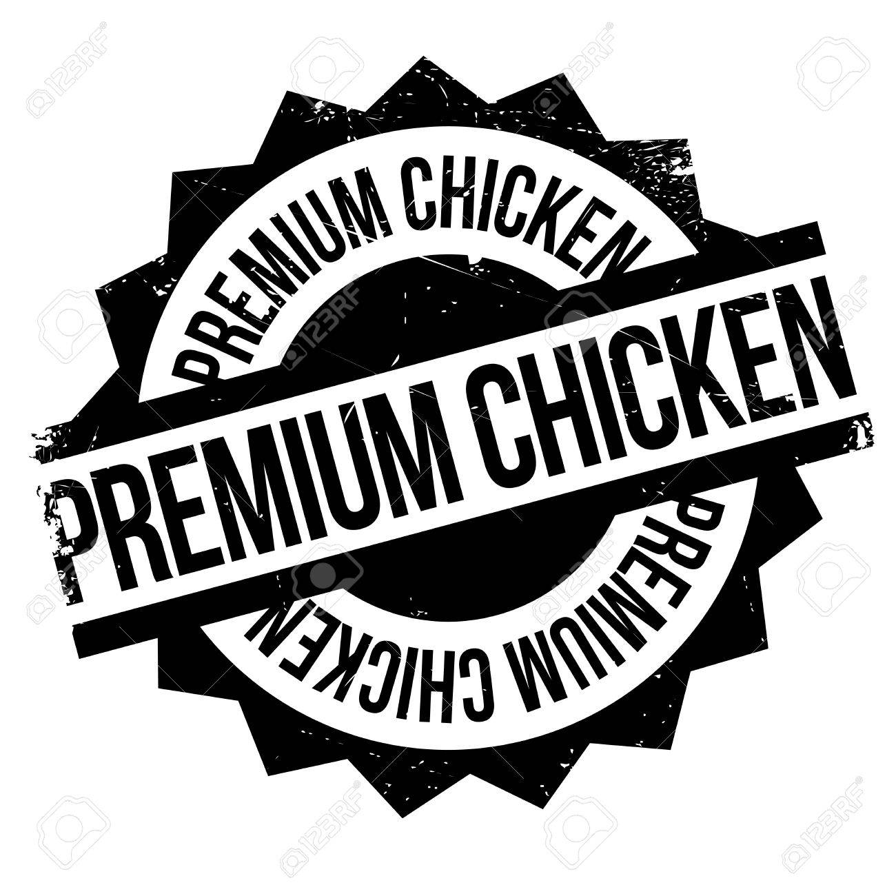 Premium Chicken Rubber Stamp Grunge Design With Dust Scratches Effects Can Be Easily Removed