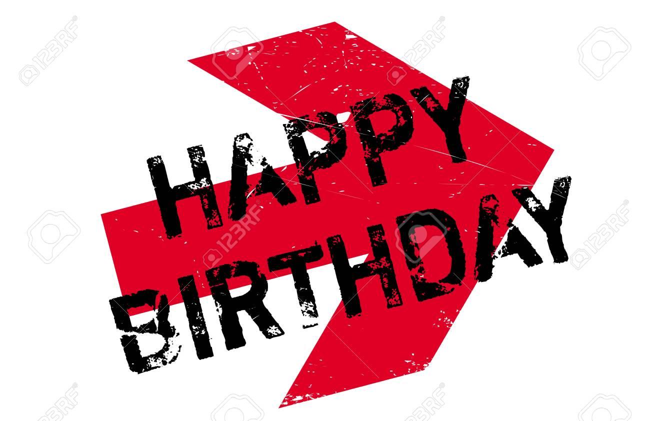 Happy Birthday Design Vector ~ Happy birthday rubber stamp. grunge design with dust scratches
