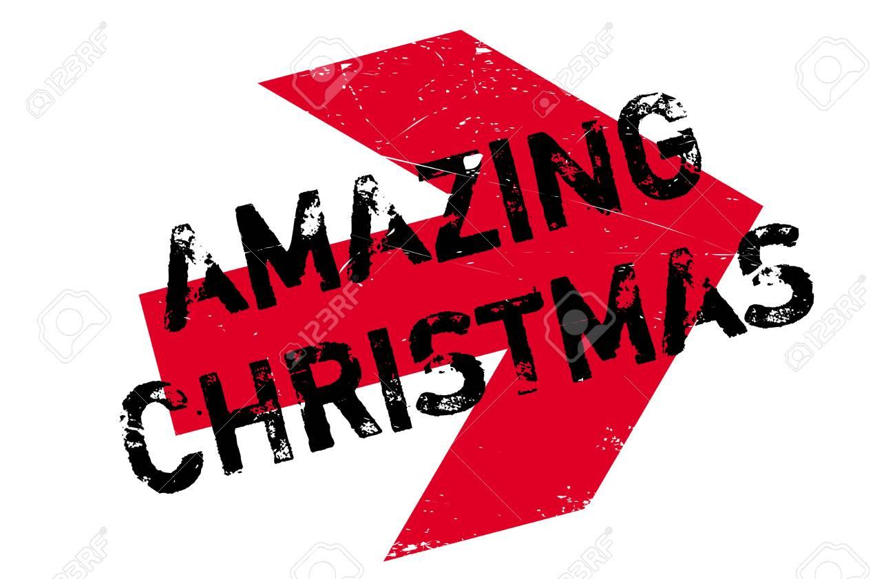 Erstaunliche Weihnachtsstempel. Grunge-Design Mit Staub Kratzer ...