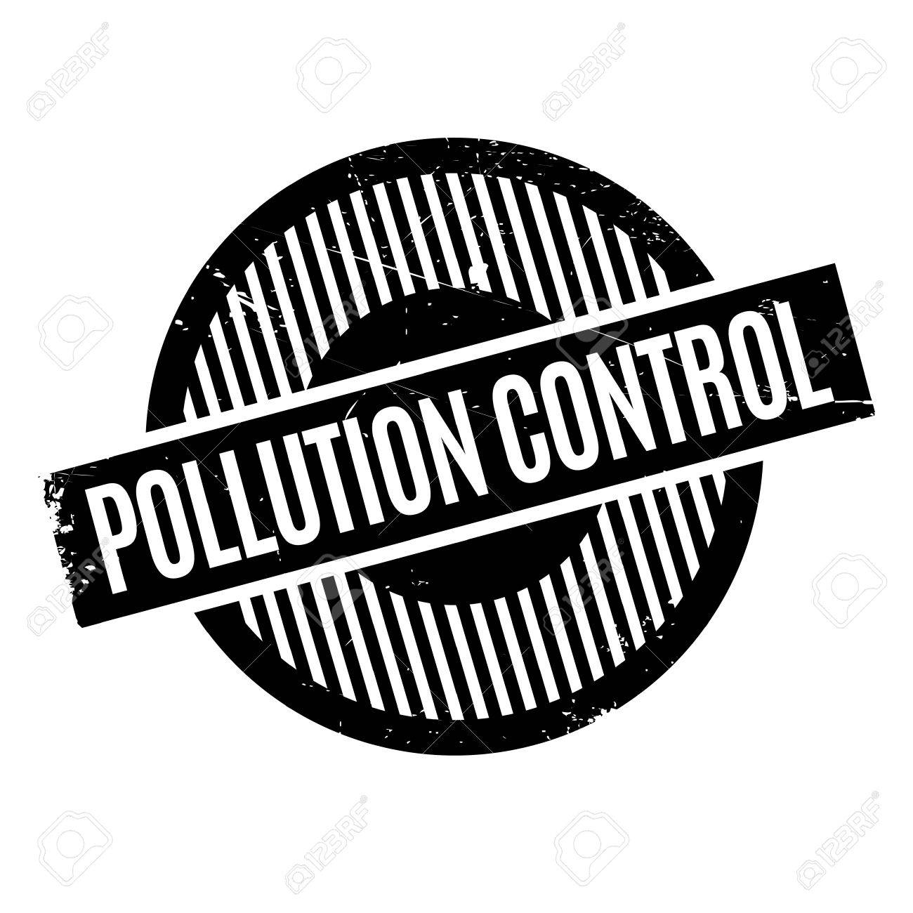 Sello De Goma De Control De La Contaminación. Diseño De Grunge Con ...