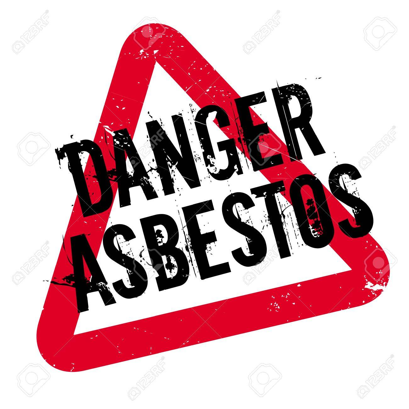 Danger Asbestos rubber stamp. Grunge design with dust scratches. Effects can be easily removed for a clean, crisp look. Color is easily changed. - 73651214
