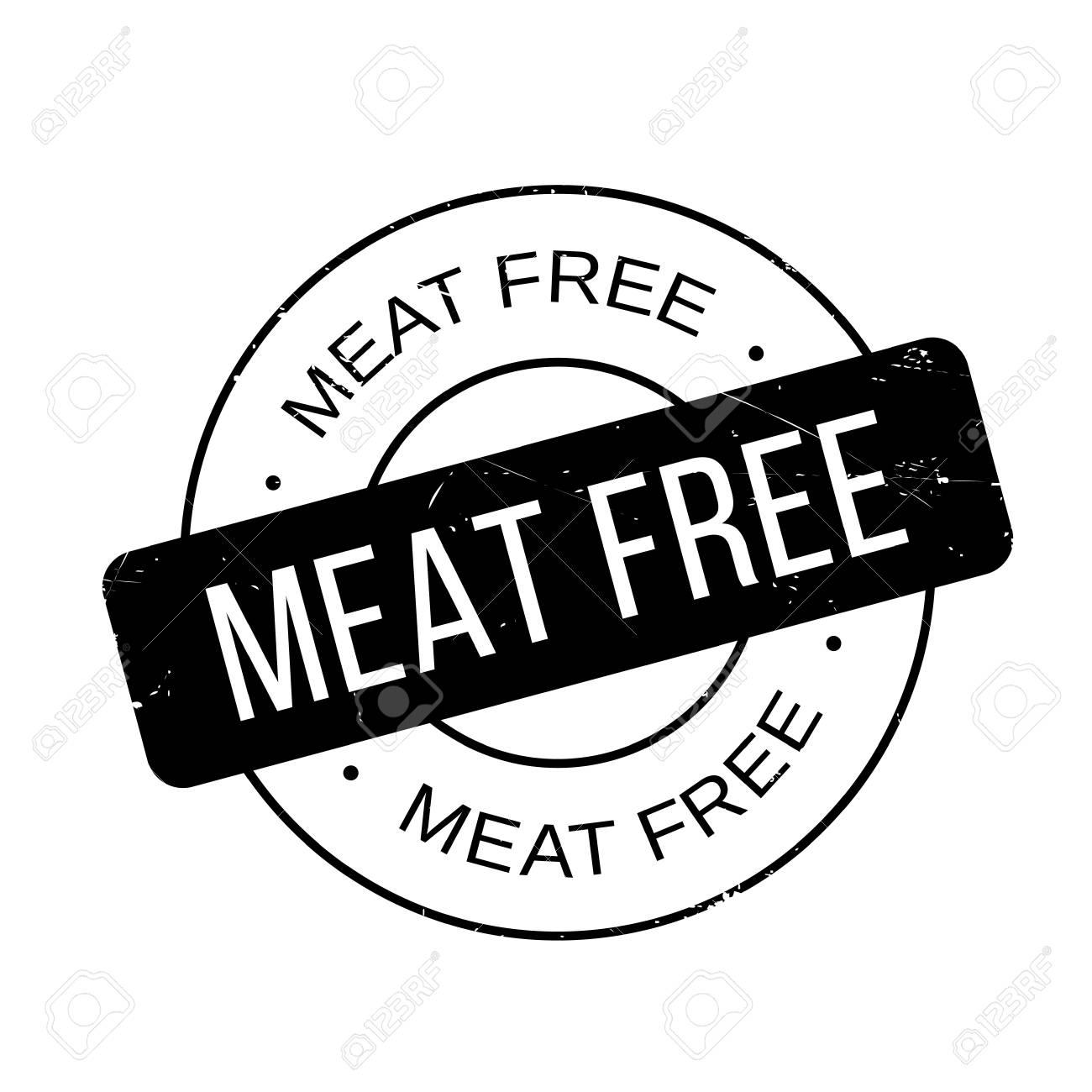 Meat Free Stempel. Grunge-Design Mit Staub Kratzer. Die Effekte ...